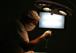 Surgeon at the operation room. Medical series